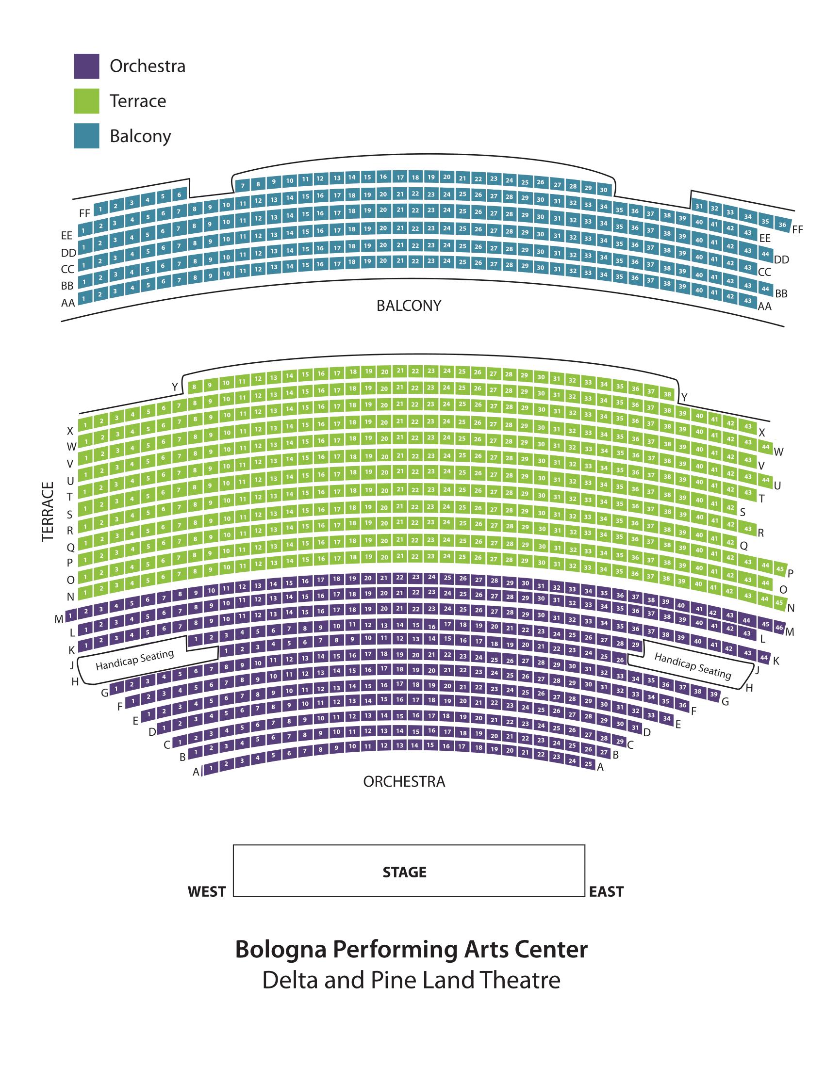 Seating Chart Bologna Pac